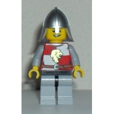 cas501 Kingdoms - Lion Knight Quarters, Helmet with Neck Protector, Open Grin