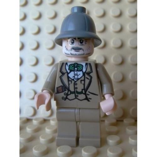 Lego mini figure 2 Dark Bluish Gray revolver pistol Indiana Jones gun weapon