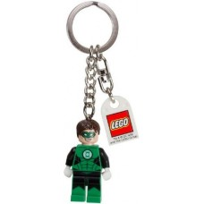 Gear 853452 Green Lantern Key Chain with Lego Logo Tile, Modified 3 x 2 Curved with Hole