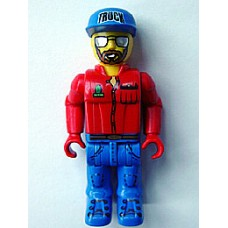 4j001 Truck Driver with Brown Beard and Mirror Sunglasses