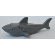 Part 14518c01 Dark Bluish Gray Shark with Gills (Complete Assembly)