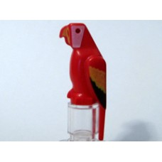 Part 2546p01 Red Bird with Parrot Colored Feathers Pattern