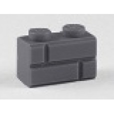 Part 98283 Dark Bluish Gray Brick, Modified 1 x 2 with Masonry Profile (Brick Profile)