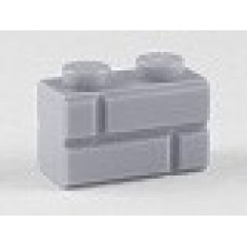 Part 98283 Light Bluish Gray Brick, Modified 1 x 2 with Masonry Profile (Brick Profile)