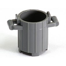 Part 2439 Dark Bluish Gray Container, Trash Can with 2 Cover Holders