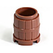 Part 2489 Reddish Brown Container, Barrel 2 x 2 x 2