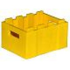 Part 30150 Yellow Container, Crate with Handholds