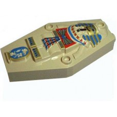 Part 30164px1 Tan Container, Coffin Lid with Mummy Relief Colorful Pattern (Sarcophagus)