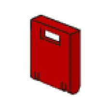 Part 4346 Red Container, Box 2 x 2 x 2 Door with Slot