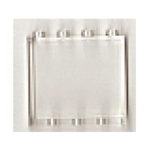 Trans-Clear Hollow Studs LEGO Panel 1 x 4 x 3
