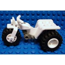 Part 30187c01 White Tricycle Complete Assembly with Dark Gray Chassis and White Wheels