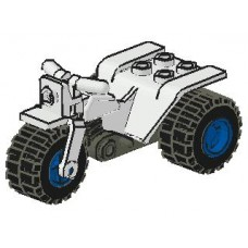 Part 30187c03 Tricycle Complete Assembly with Dark Gray Chassis and Blue Wheels