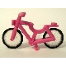Part 4719c01 Dark Pink Bicycle, Complete Assembly (2-Piece Wheels)