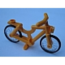 Part 4719c02 Bright Light Orange Bicycle, Complete Assembly (1-Piece Wheels)