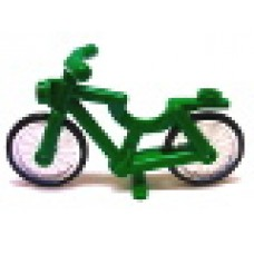 Part 4719c02 Green Bicycle, Complete Assembly (1-Piece Wheels)