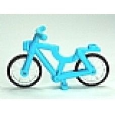 Part 4719c02 Medium Azure Bicycle, Complete Assembly (1-Piece Wheels)
