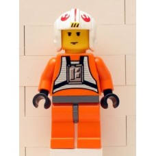 sw019a Luke Skywalker (Pilot with Dark Bluish Gray Hips)